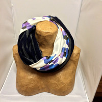Colorful Knit Scarf - The Hybrid Hexagon Infinity Scarf - ONE OF A KIND