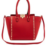 Studded Structured Tote Bag