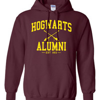Hogwarts Alumni hooded Sweatshirt Printed hoodie Mens Womens Ladies Unisex Funny Harry Potter Wizard Magical DT-006YH