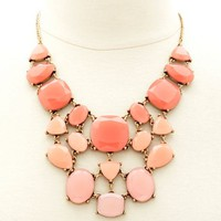 Ombre Stone Bib Necklace
