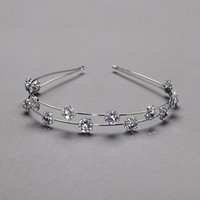 Crystal Accented Double Row Headband - David's Bridal