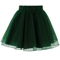 Organza Tulle Skirt in Green Green S/M