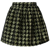 Golden Sparkle Houndstooth Skirt