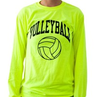 Neon Volleyball Long Sleeve T-shirt