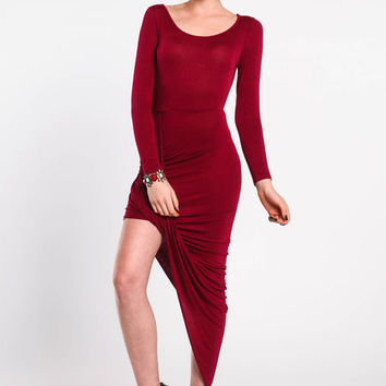 ASYMMETRICAL WRAP DRESS