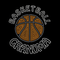 Basketball Grandma Rhinestone Transfer Iron On DIY Bling 34146