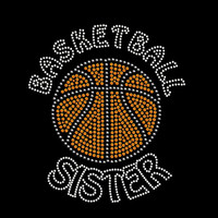 Basketball Sister Rhinestone Transfer Iron On DIY Bling 34147