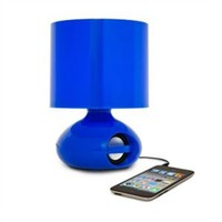 iHome MP3 College Speaker Lamp - Blue Dorm Desk Lighting Cool Stuff Music Player