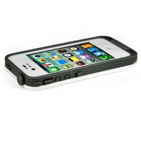 New Waterproof Shockproof Dirtproof Snowproof Protection Case Cover for Apple Iphone 4 4S (White) (White1)