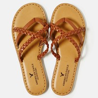 AEO Women's Strappy Braided Sandal