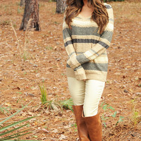 Swayin' In the Wind Sweater: Multi