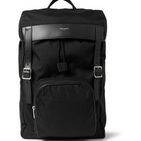 Saint Laurent - Leather-Trimmed Canvas Backpack | MR PORTER