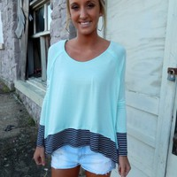 Mint Asymmetrical Top