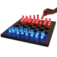 LED Glow Blue and Red Chess Set - #K9051 | LampsPlus.com