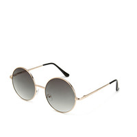 F3843 Retro Girl Round Sunglasses