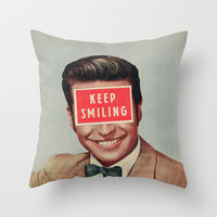 Solid Advice Throw Pillow by Sammy Slabbinck