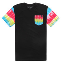 Young & Reckless Tie Dye Pocket T-Shirt - Mens Tee - Black -