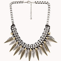 Eclectic Spiked Chain Necklace