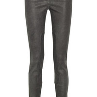T by Alexander Wang Stretch-leather pants – 57% at THE OUTNET.COM