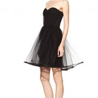 alice + olivia | LANDI GATHERED CINCHED WAIST POUF DRESS