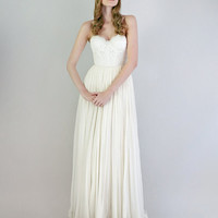 Samantha lace and silk chiffon gown