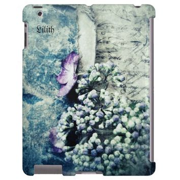 flower grunge iPad 2, 3, 4 case