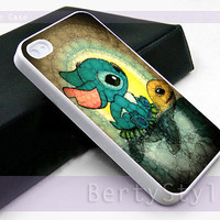 Iphone Case - Iphone 4 Case - Iphone 5 Case - Samsung s3 - samsung s4 - Swimming Stitch and Turtlesa - Photo Print on Hard Plastic