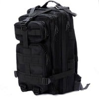 Sport Outdoor Military Rucksacks Tactical Molle Backpack Camping Hiking Trekking Bag-Black