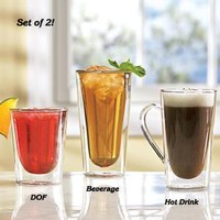 Set/2 Double Wall Glasses @ Fresh Finds