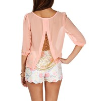 Pink Chain Back Blouse