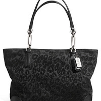 COACH MADISON EAST/WEST TOTE IN CHENILLE OCELOT
