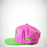 Superman Purple Snapback Hat
