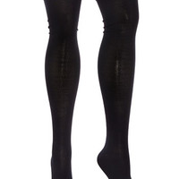 Classic Black Thigh High Socks - PLASTICLAND
