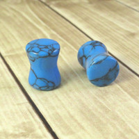 Turquoise Stone Saddle Plugs