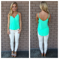 Neon Mint Wrapped Up Tank