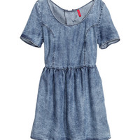 H&M - Denim Dress - Denim blue - Ladies