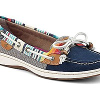 Serape Trimmed Angelfish Boat Shoe