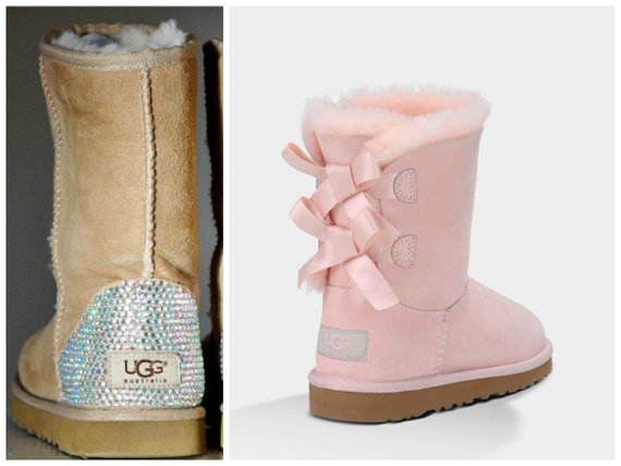 light baby pink ugg bailey bow boots with from twiggy tiger. Black Bedroom Furniture Sets. Home Design Ideas