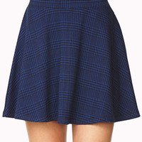 Refined Plaid Skater Skirt