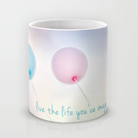 balloon love: live the life you've imagined Mug by Sylvia Cook Photography