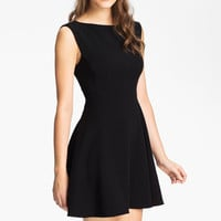 French Connection Extended Sleeve Ponte Fit & Flare Dress | Nordstrom