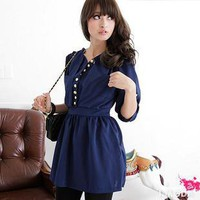 Gold buckle style sleeves Chiffon dress color