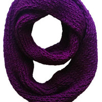 Purple Loop Infinity Scarf