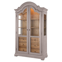 Brighton China Cabinet in Grey