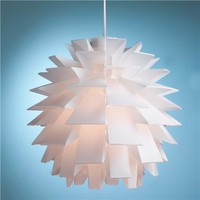 Mod Euro White Supernova Chandelier - Shades of Light