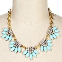Mint Scallop Statement Necklace