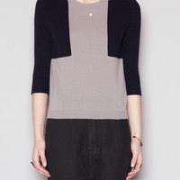 Totokaelo - Jil Sander Two Tone Shoulder Patch Sweater - $198.00
