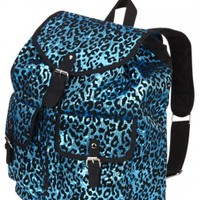 "Large Sequin Cheetah 16"" Rucksack"