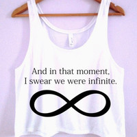 """I Swear We Were Infinite"" Crop-Top"