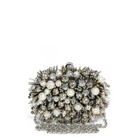 ALDO Arkair Pearl & Crystal Box Clutch Bag